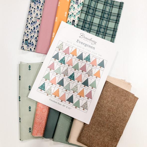 Evergreen Holiday Winter Quilt Kit Bundle - Cluck Cluck Sew Evergreen Quilt