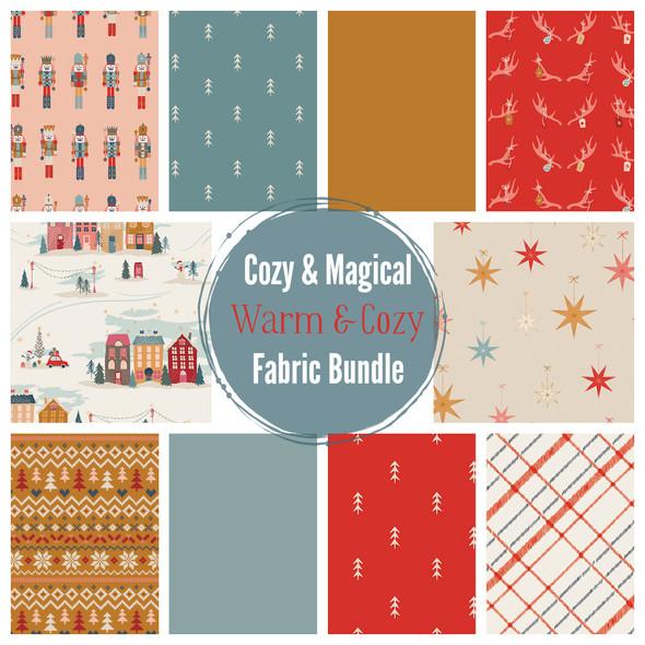 Warm & Cozy Holiday 10 piece Fabric Bundle quilt cotton - Art Gallery Fabrics bundle
