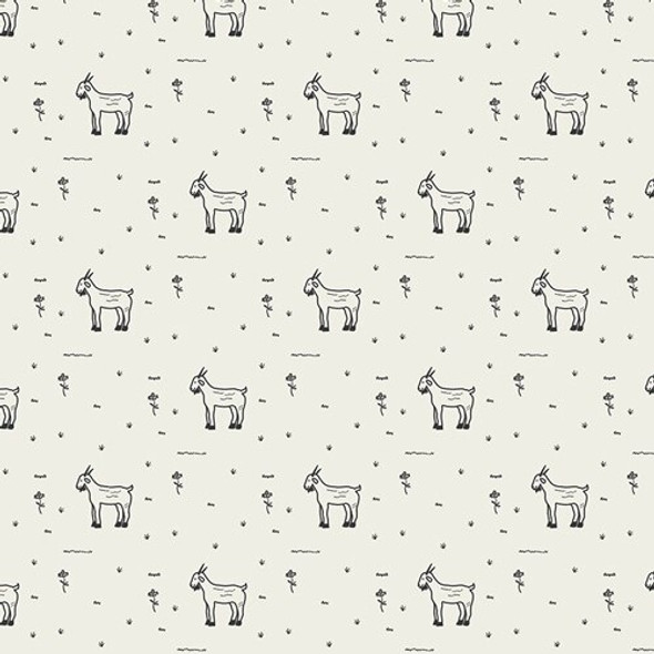 Grazing Goats farm animals fabrics design