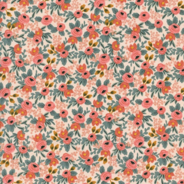 Rifle Paper Co. Rosa Peach Fabric, Cotton + Steel floral cotton, QTR YD