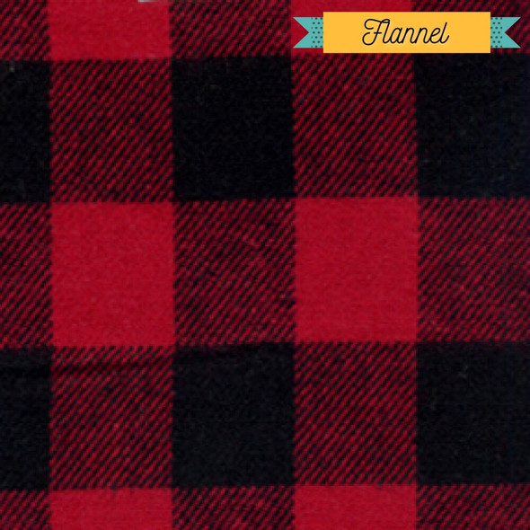 Red black buffalo plaid Fabrics design