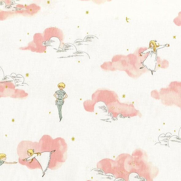 Pink Peter Pan cotton Fabrics design