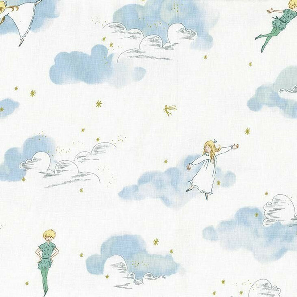 Blue Peter Pan cotton fabrics design
