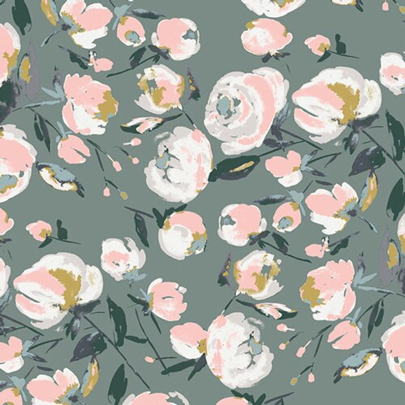 Fall floral blooms fabrics design