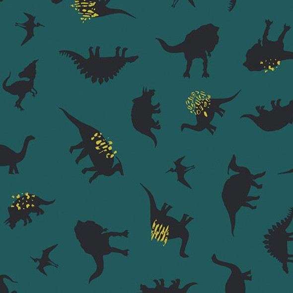 Blue Green Dinosaur fabrics design
