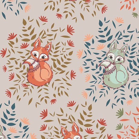 Foxes in Fall cotton fabrics design
