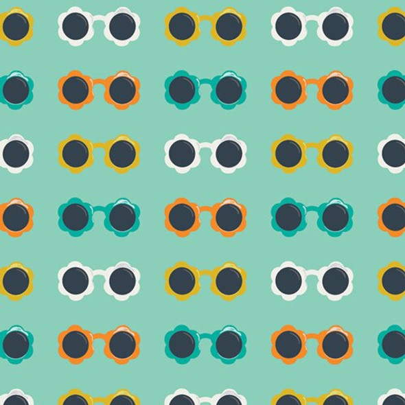 Sunny Shades Mint fabrics design