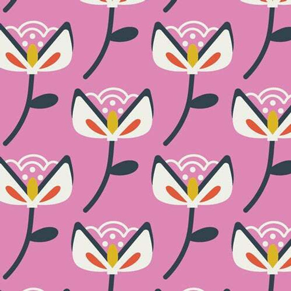 Purple Summer Floral Bloom fabrics design