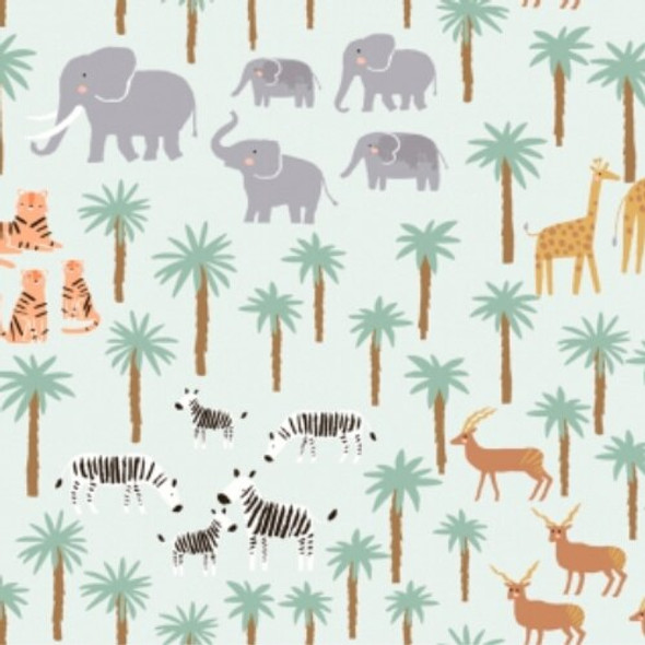 Zebra tiger elephant jungle fabrics design