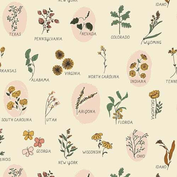 Roadside Wildflower floral fabrics design