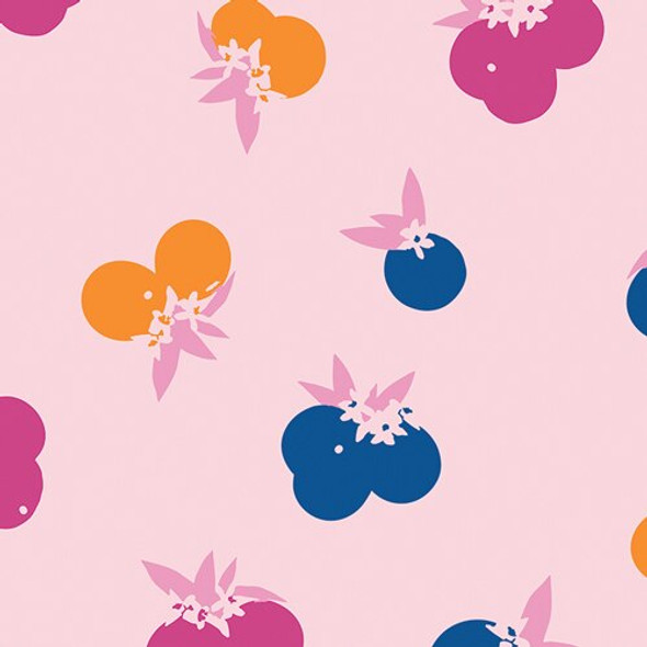 Pink Citrus Sunset Art Gallery Fabrics design