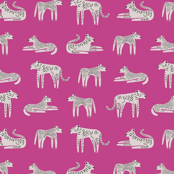 Pink Cheetah Tiger fabrics design