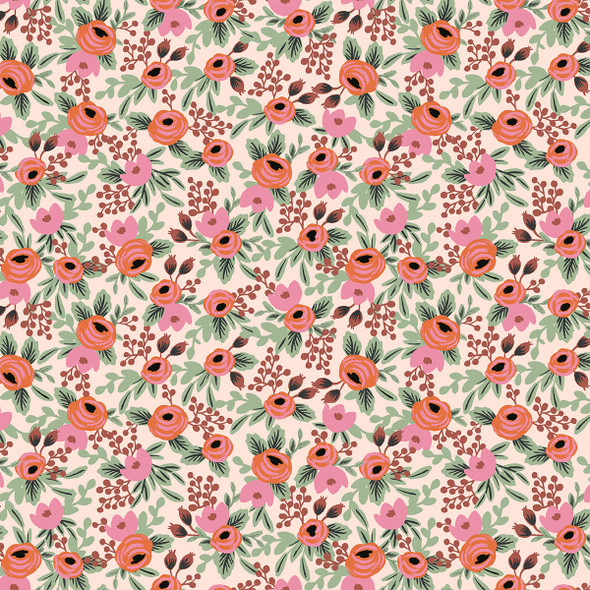 Rosa - Blush by Rifle Paper Co. Primavera cotton fabric QTR YD