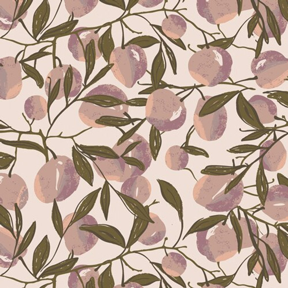 Purple peach cotton fabrics design