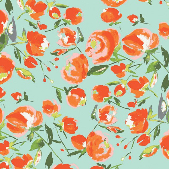 Everlasting Blooms Citrus fabrics design