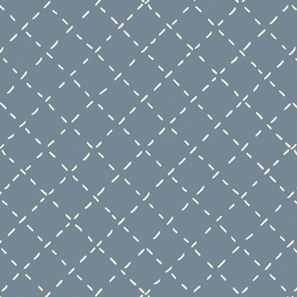 Blue white stitch fabrics design