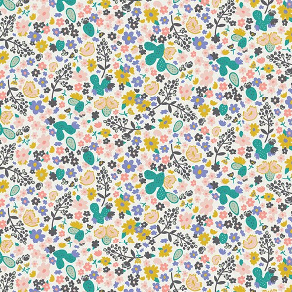 Winter field floral cotton Fabrics design