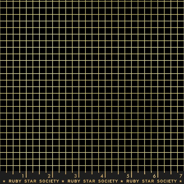 Black gold grid quilt cotton fabrics design