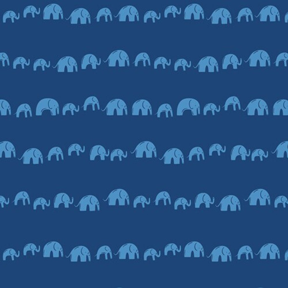 Blue Elephants Echo Electric fabrics design