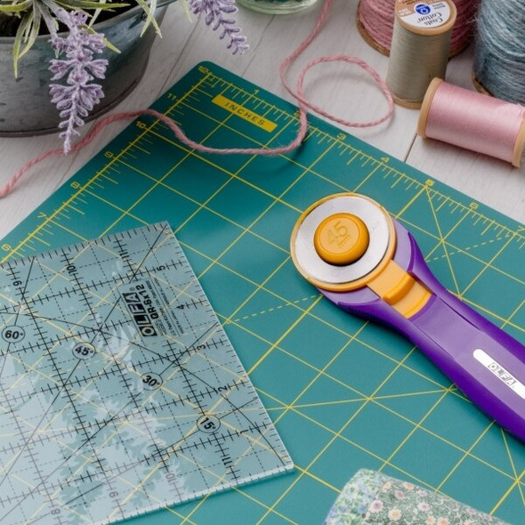 Purple Olfa Splash 45mm fabric cutter