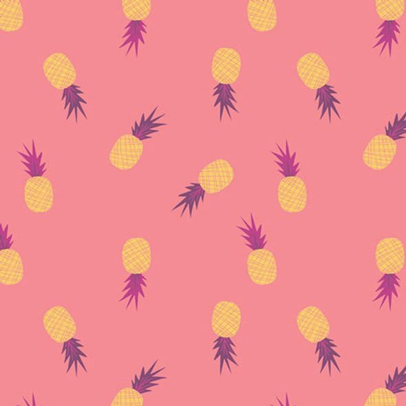 Pink pineapple summer fabrics design