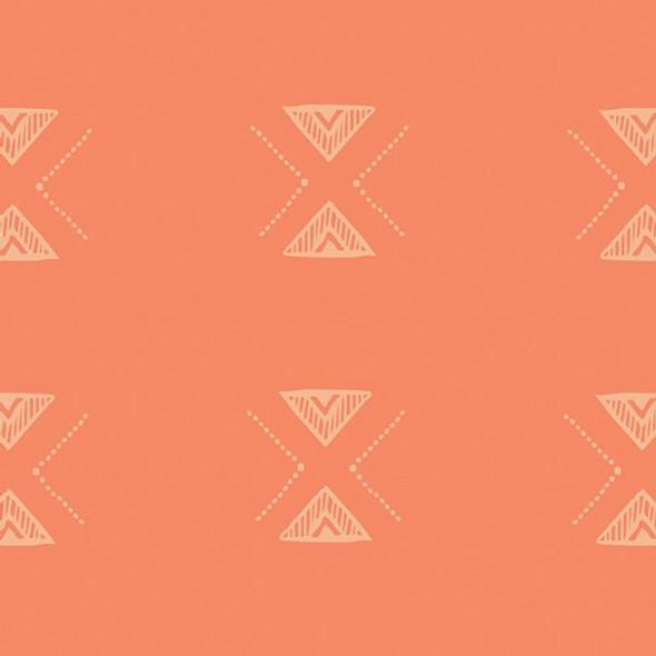 Orange aztec cotton fabrics design