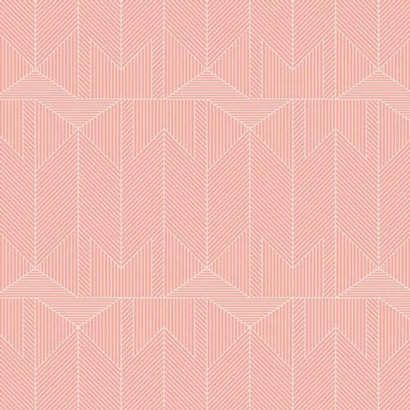 Pink modern lines fabrics design