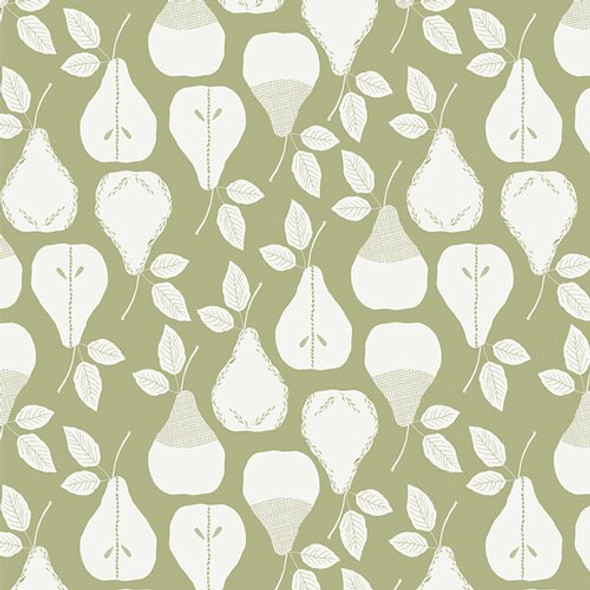 Green pear sweet Harvest Olive cotton Fabrics design