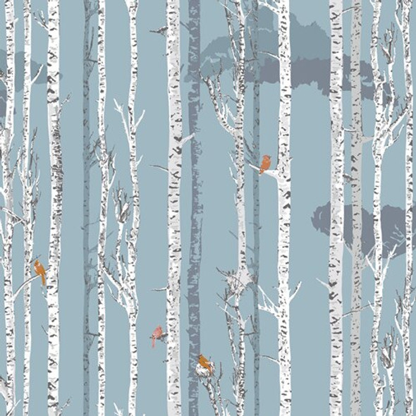 Woodland forest tree fabrics design