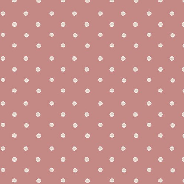 Dark coral white dot fabrics design