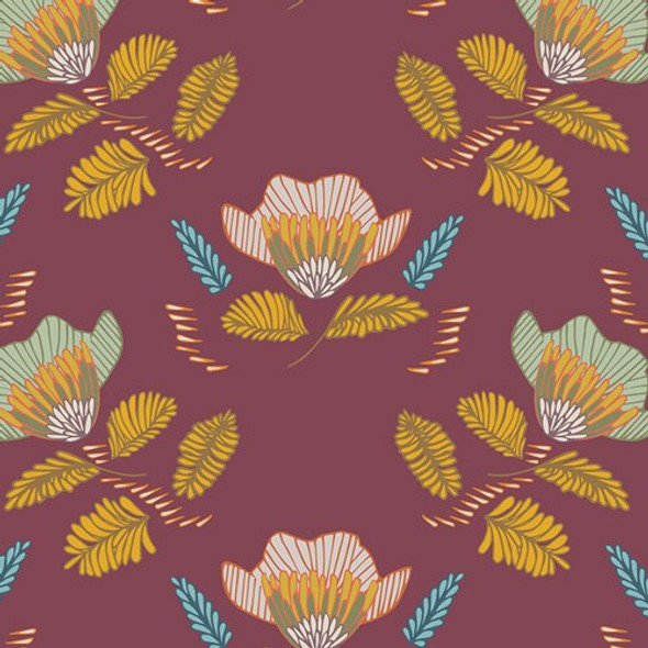 Pressed Ablossom Auburn fall fabrics design