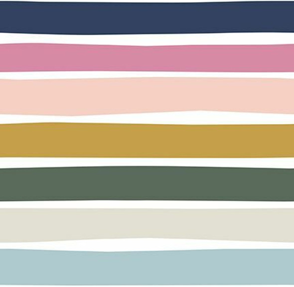 Neutral stripe Over the Rainbow cotton fabrics design