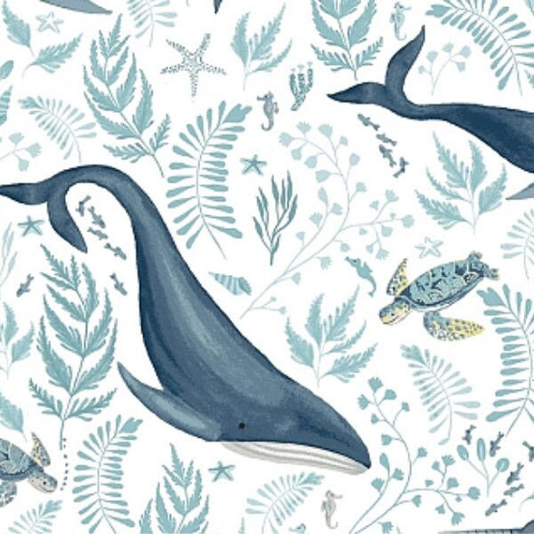 Whale sea turtle fabrics design