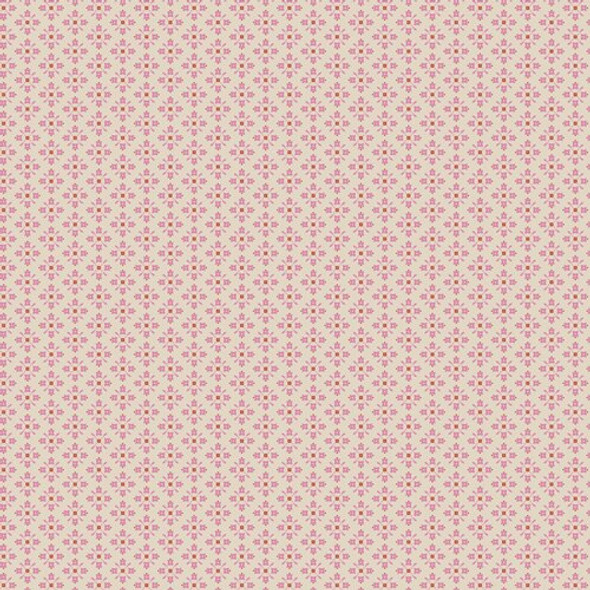 Tiny pink Royal Arcade fabrics design