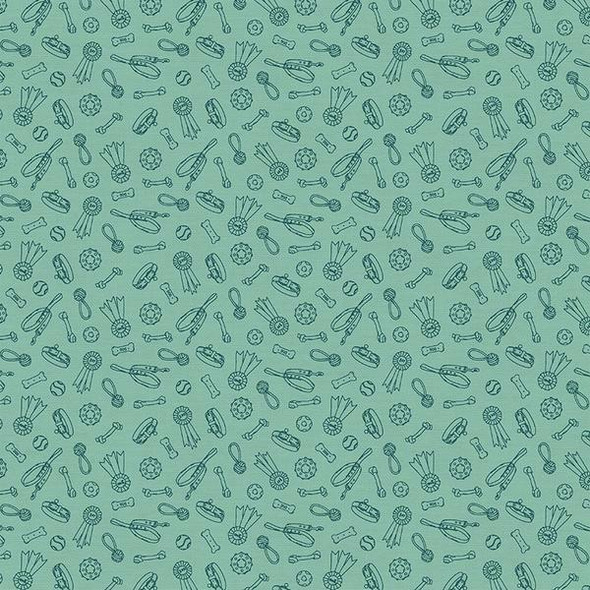 Dog Stuff green fabrics design