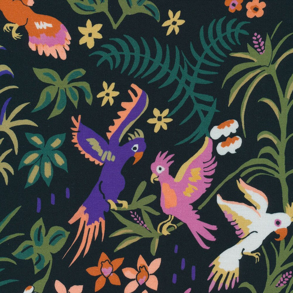 Cockatoo jungle organic cotton fabrics design