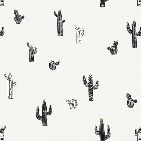 Modern cactus Pacha cotton fabrics design