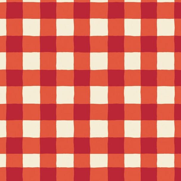 Red White Buffalo Plaid cotton Fabrics design