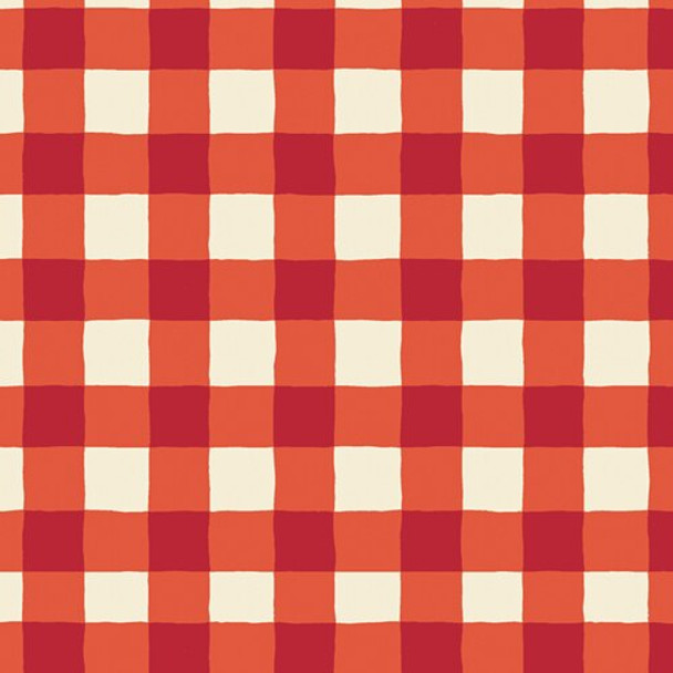 Red White Buffalo Plaid cotton fabric, AGF Plaid of My Dreams Joyful