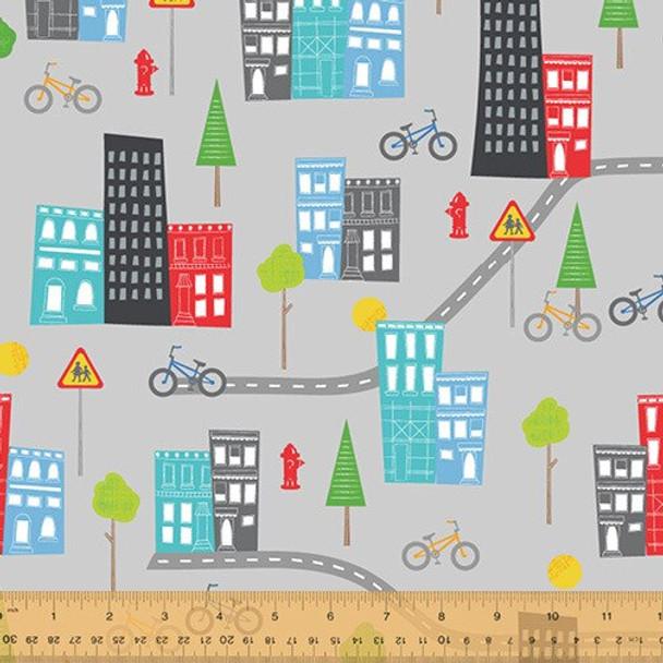 Gray city fabrics design