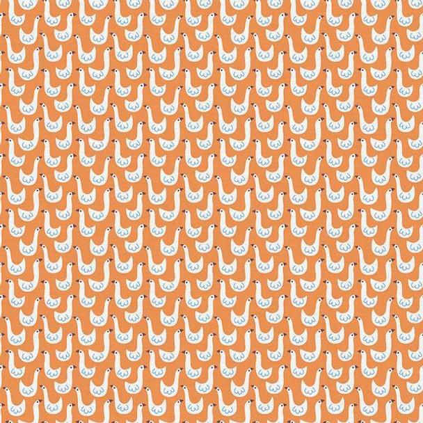 Orange duck goose kids cotton Fabrics design