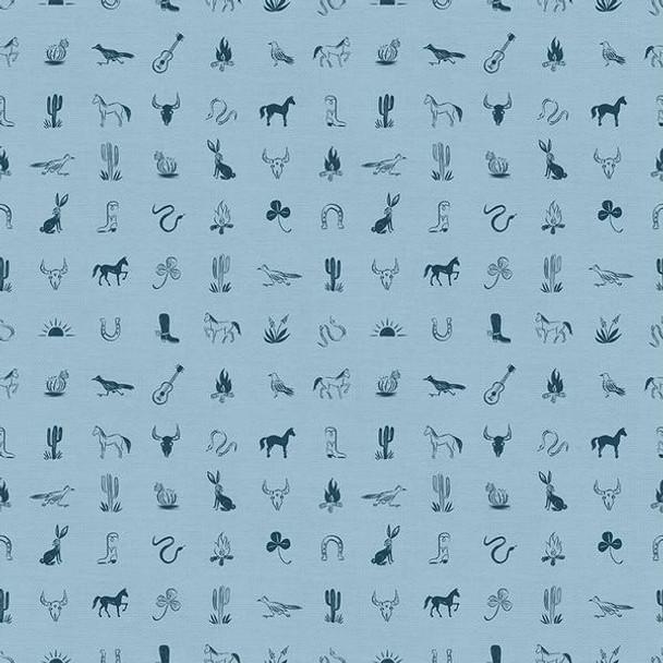 Blue Western Icon fabrics design