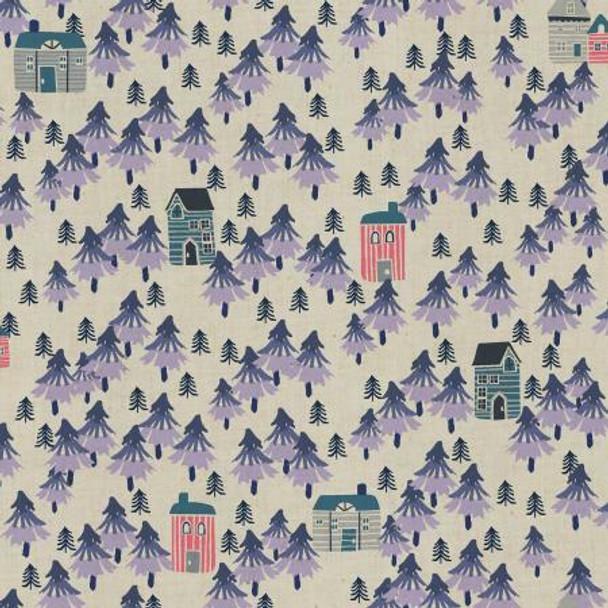 Nature Walk- Purple Haze Unbleached fabrics design