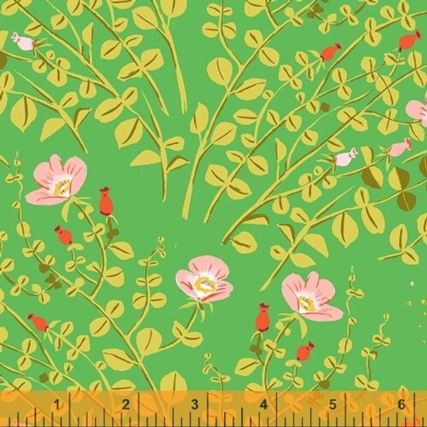 Green Flower Fabrics design