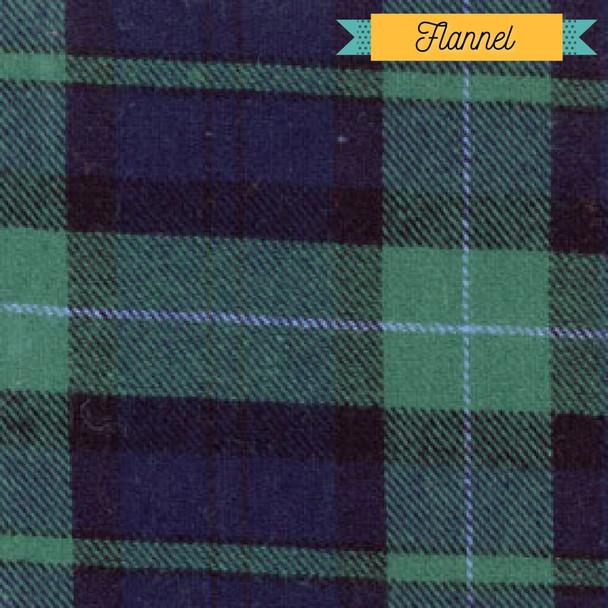 Green blue plaid flannel Fabrics design