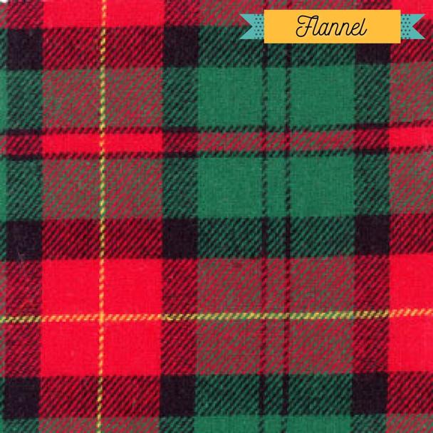 Red green gold plaid flannel fabrics design