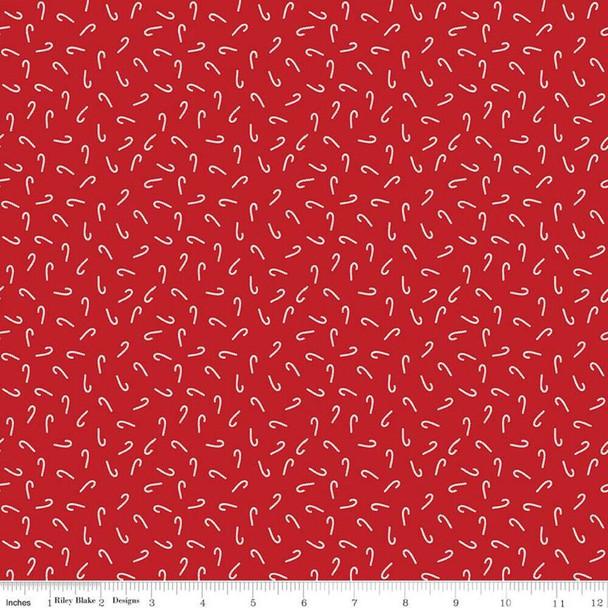 Red Candy Cane Christmas Fabrics design