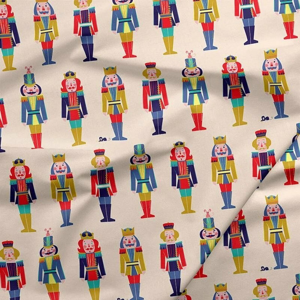 Nutcracker Toy Soldier Christmas fabrics design