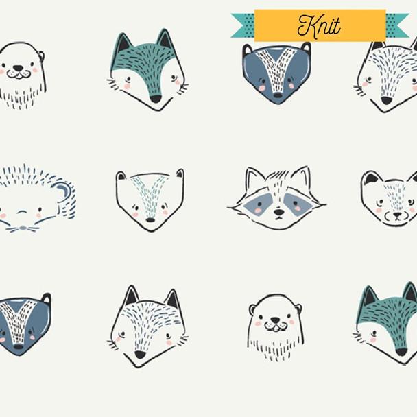 Woodland Animals KNIT fabrics design