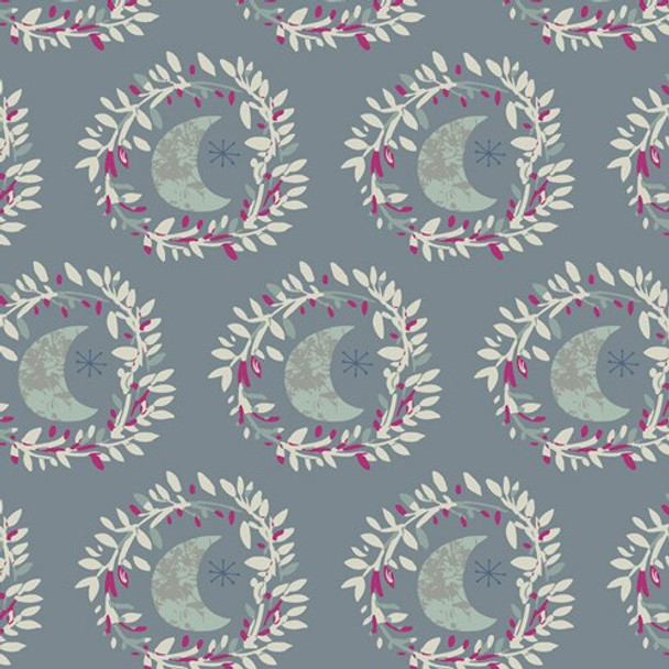Light Purple moon cotton fabrics design
